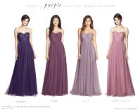 Purple Mismatched Bridesmaid Dresses