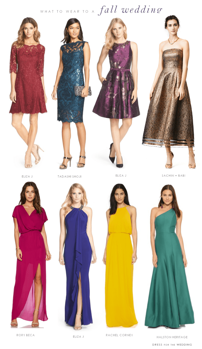 what to wear to a fall wedding fall wedding guest dresses