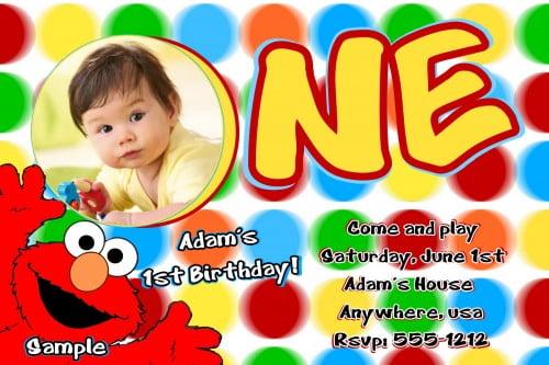 Elmo Sesame Street Birthday Party Invitations   Drevio Invitations