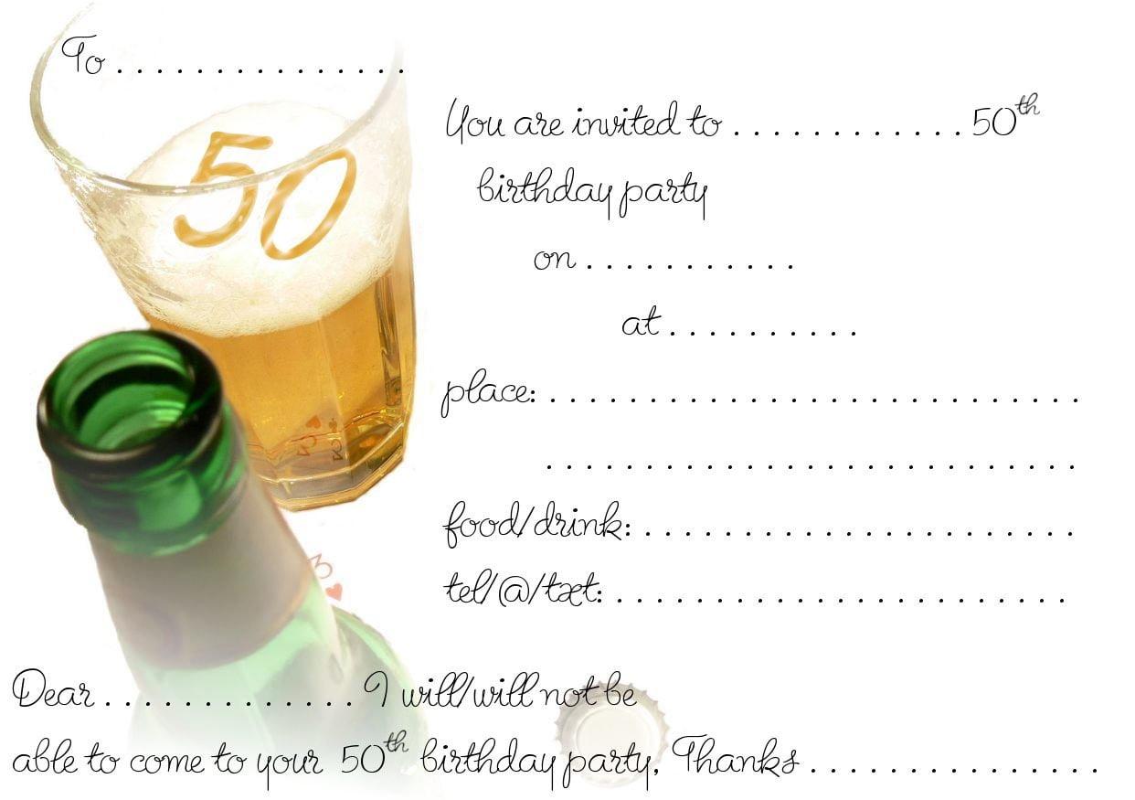 Free 50th Birthday Invitations Templates - Menshealtharts