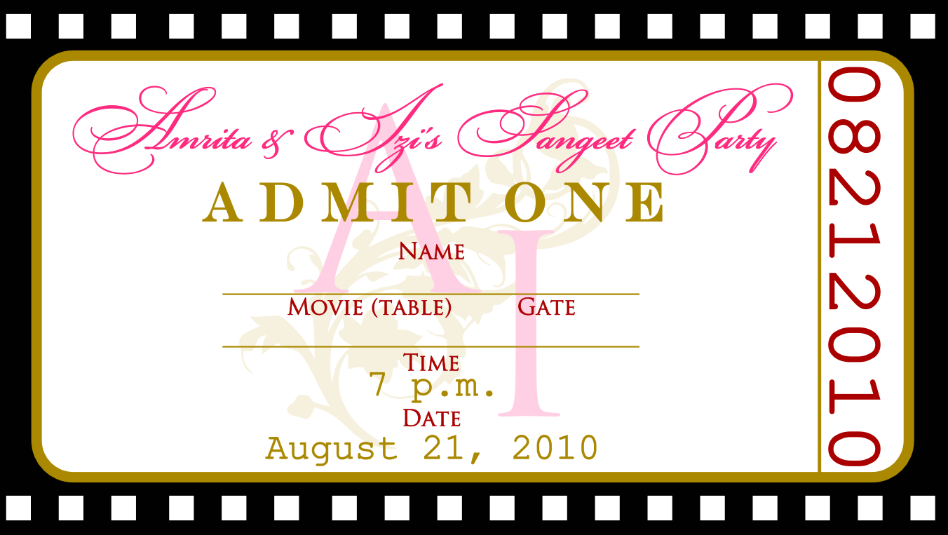ticket party invitation template