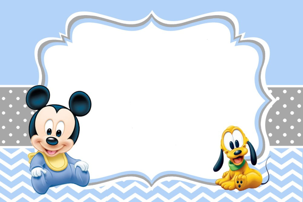 baby mickey mouse invitations