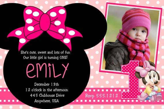 Minnie Mouse 2nd Birthday Party Invitation Wording \u2013 FREE Invitation