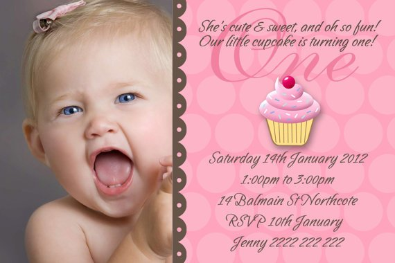 Baby Girl 1st Birthday Invitations Free Invitation