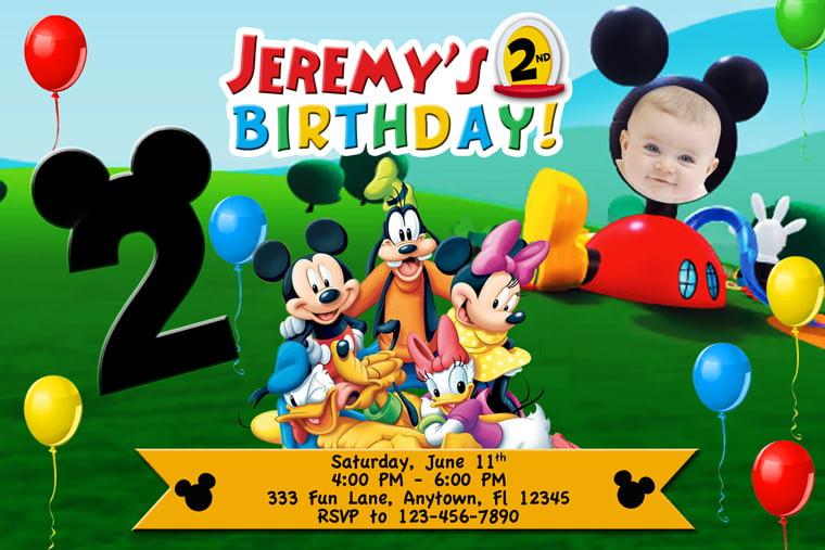 personalized mickey mouse 1st birthday invitations xv-gimnazija