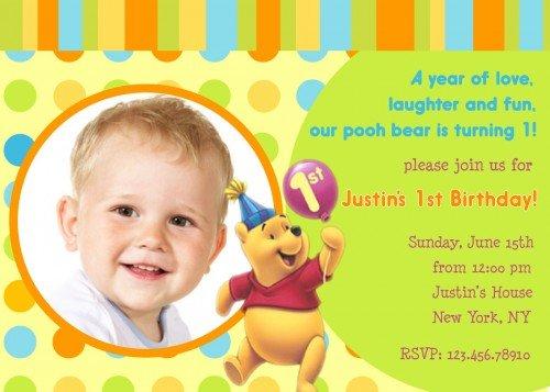 FREE Printable Winnie The Pooh Birthday Invitations FREE