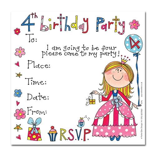 4th Birthday Party Invitation Wording FREE Invitation Templates