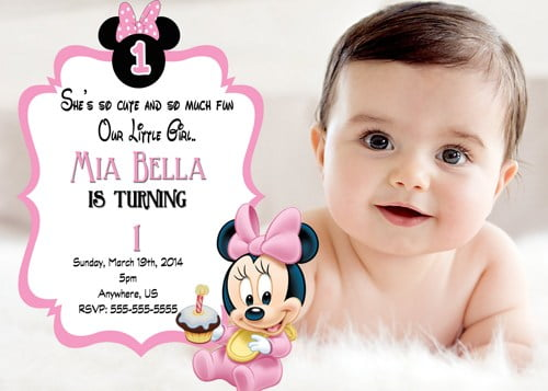 Cute Shoes Wallpaper Free Printable Minnie Mouse 1st Birthday Invitations