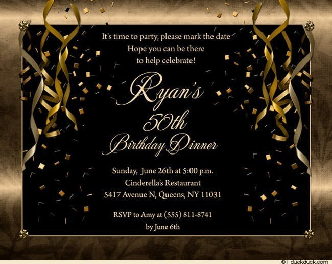 FREE Printable 50th Birthday Party Invitations for Men FREE