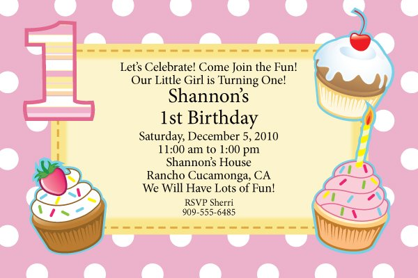 First Birthday Free Printable Invitations Template FREE Invitation - free first birthday invitations templates