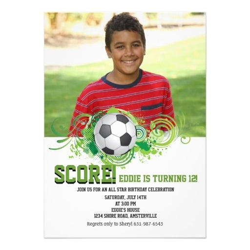 cool soccer printable birthday invitations for free \u2013 FREE