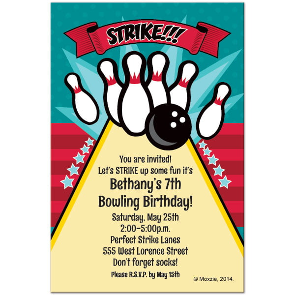 Bowling Invitation Template Free \u2013 orderecigsjuiceinfo - Free Printable Bowling Party Invitations