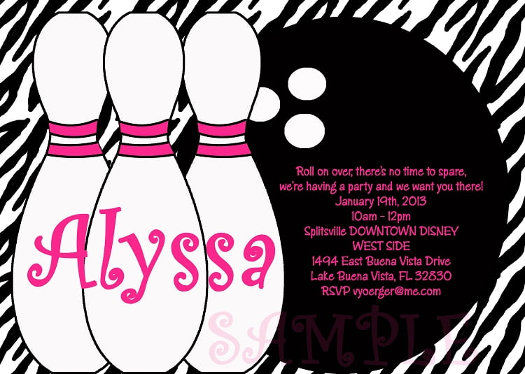 Free Printable Bowling Birthday Invitations FREE Invitation