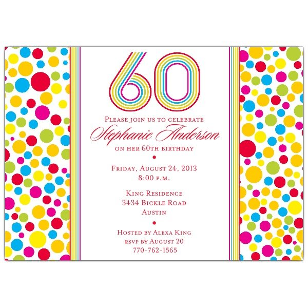 Free 60Th Birthday Invitations Templates \u2013 diabetesmanginfo