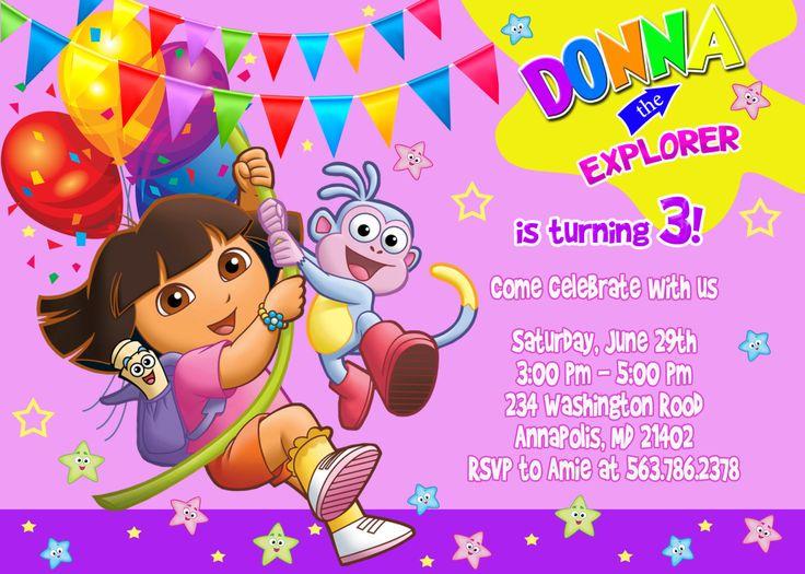 2 Year Old Girls Happy Birthday Wallpaper Free Printable Dora The Explorer Birthday Party