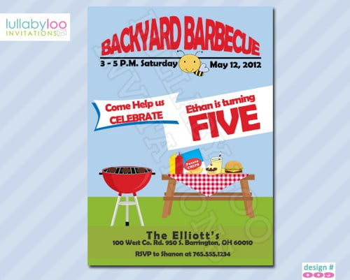 barbeque free birthday invitations for kids \u2013 FREE Invitation