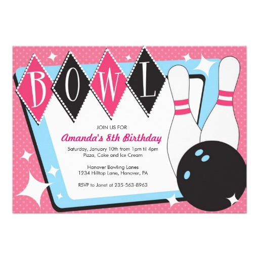 Free Bowling Birthday Party Invitations - Template Downloadable