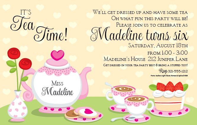 tea party online invitations - Militarybralicious - online invitations templates printable free