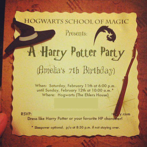 FREE Printable Harry Potter Birthday Invitations Printable FREE