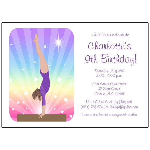 Free Printable Gymnastic Birthday Invitations \u2013 Updated! FREE - bday invitations templates
