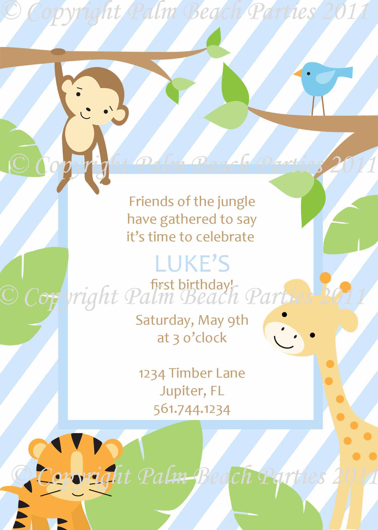 Jungle Party Invitation Wording Choice Image - Party Invitations Ideas