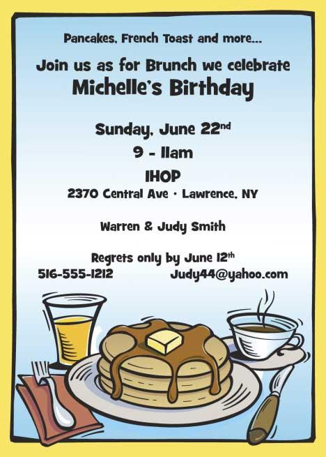breakfast invitation wording