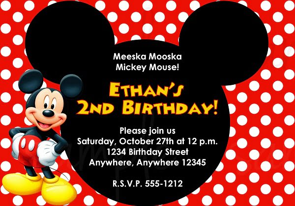 Mickey Invitation Template \u2013 diabetesmanginfo - free templates for invitations birthday