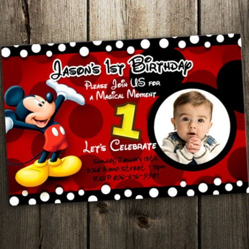 Free Printable Mickey Mouse Invitatons Birthday FREE Invitation