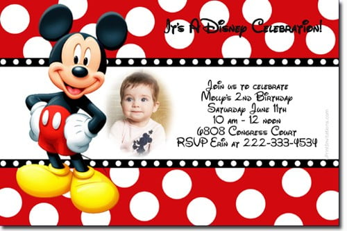 Free Mickey Mouse Birthday Invitations FREE Invitation Templates