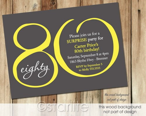 Free Printable 80th Birthday Invitations Invitation