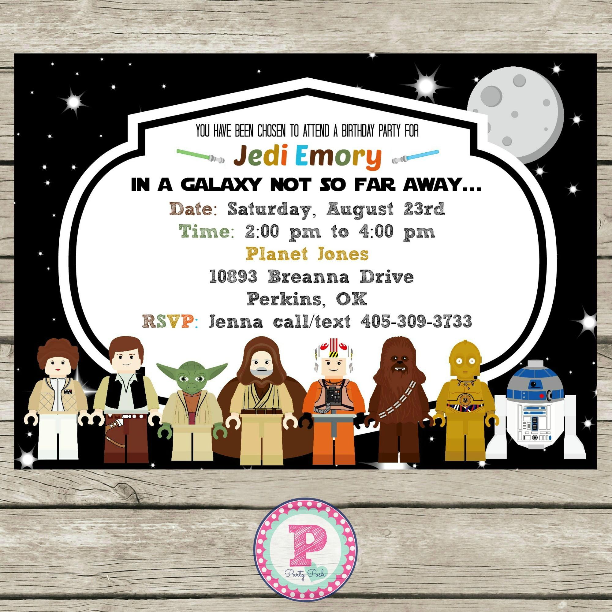 Star wars birthday invitations wording drevio