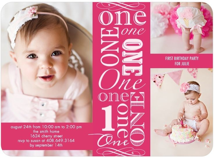 One Year Old Birthday Party Invitations Ideas Free