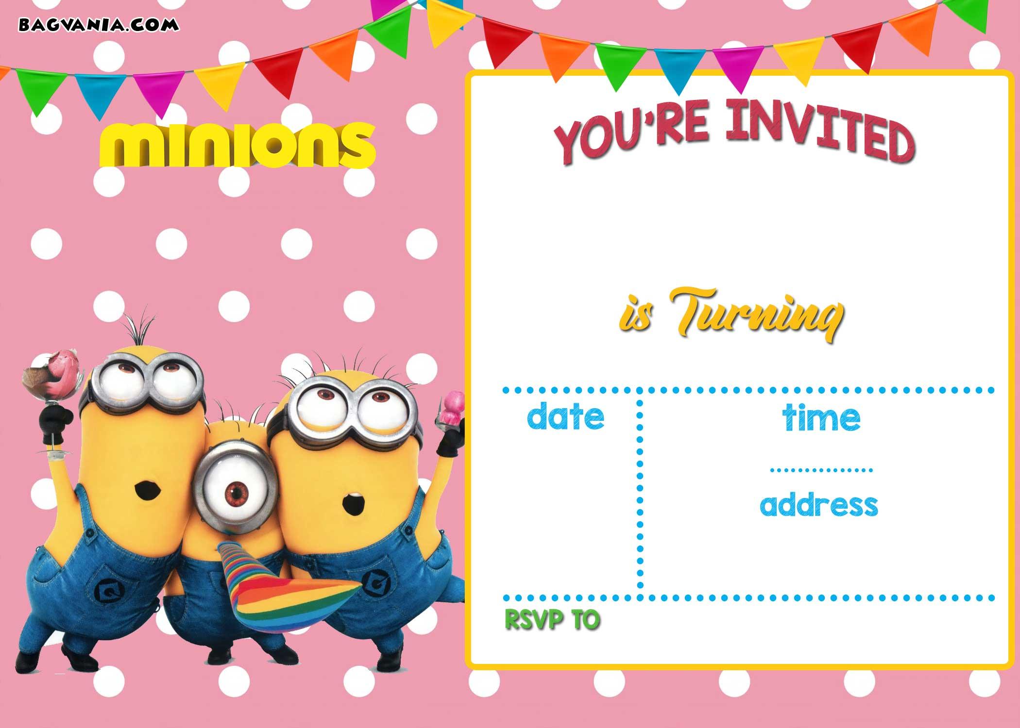 Minion Girl Wallpaper Free Printable Minion Birthday Party Invitations Ideas