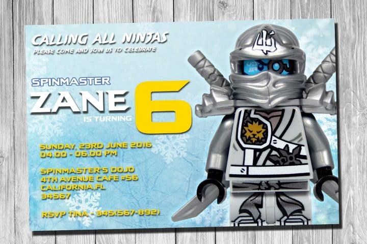 Free Printable Lego Ninjago Birthday Invitation Free
