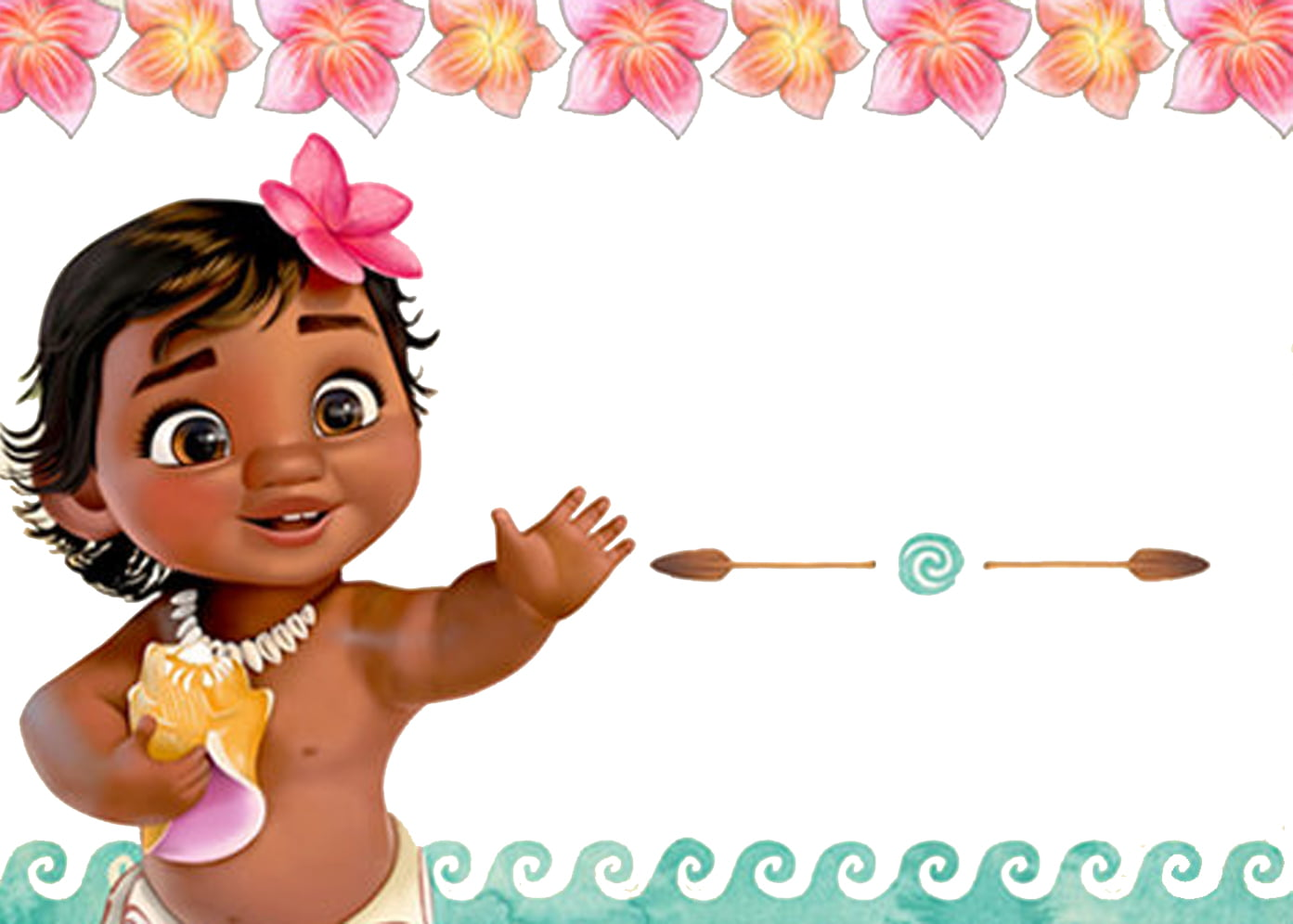 Free Moana Birthday Invitation Template Free Invitation
