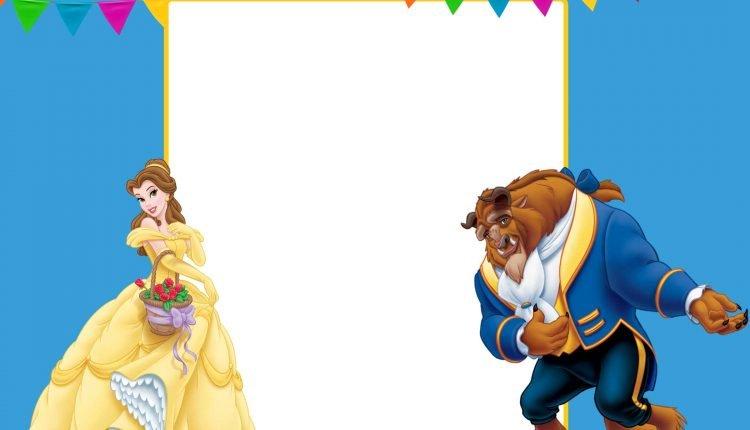 FREE-Printable-Princess-Belle-and-Beast-Invitation-Template \u2013 FREE
