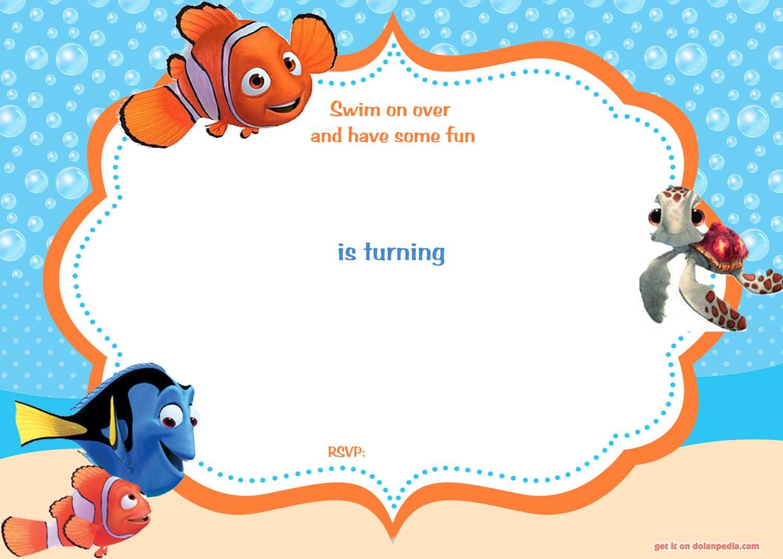 finding nemo invitations template