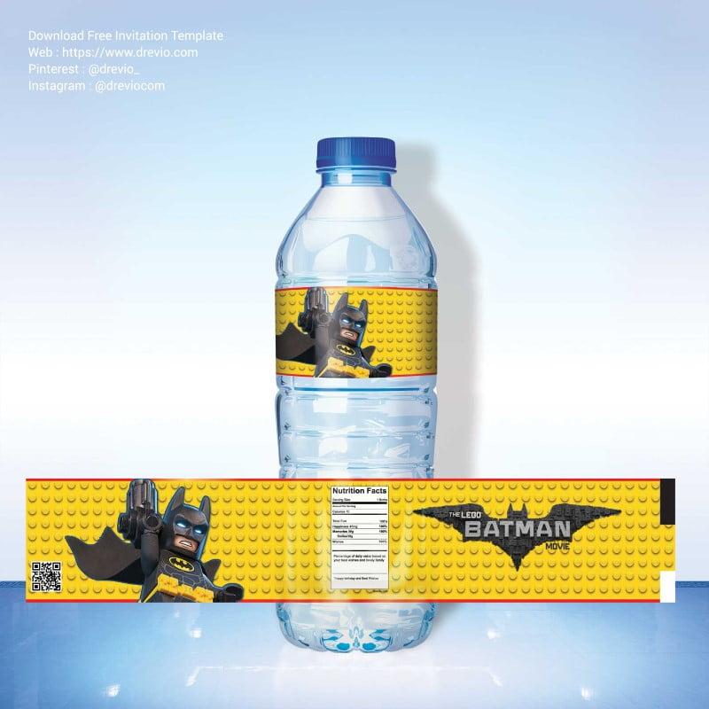 FREE Printable LEGO Batman Water Bottle Label FREE Invitation