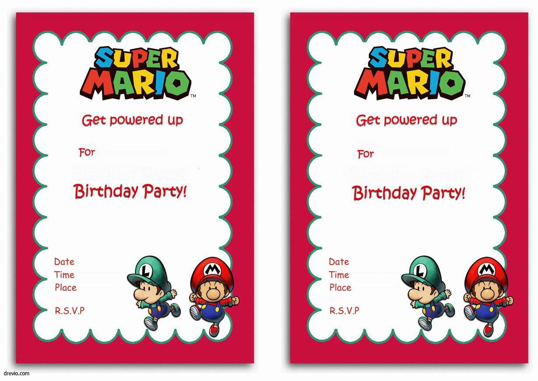 Free Printable Super Mario Bros Invitation Template Free