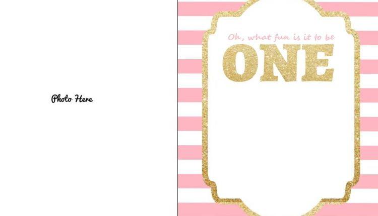 FREE-Printable-Pink-Gold-1st-Birthday-Invitation-Template \u2013 FREE