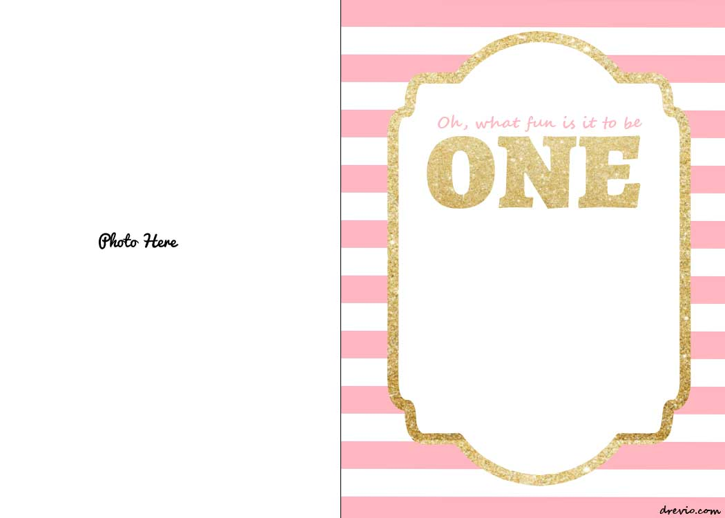 Free Printable 1st Birthday Invitations Template