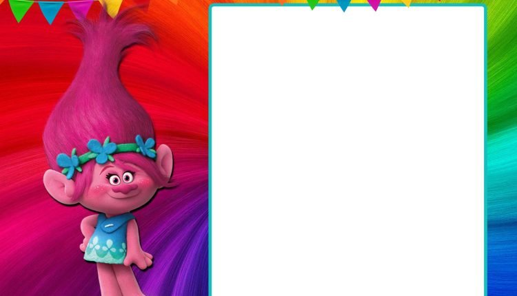 FREE-Printable-Poppy-Trolls-Birthday-Invitation-Template \u2013 FREE