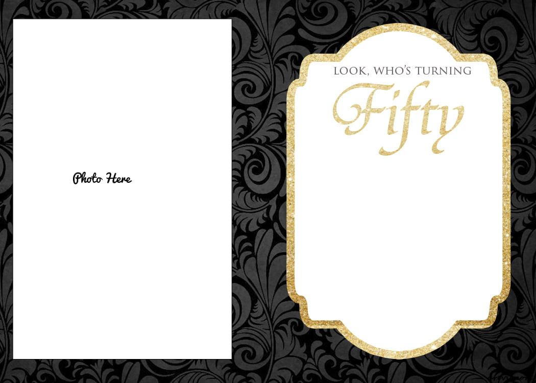 50th birthday invitation templates free