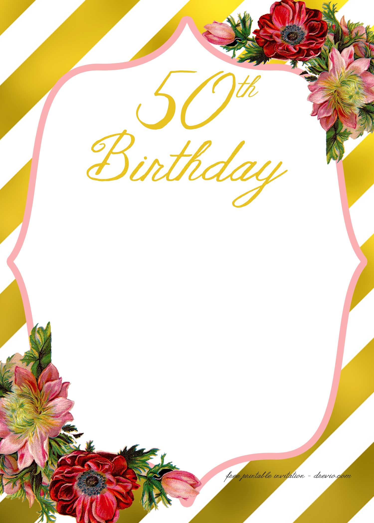free 50th birthday party invitations