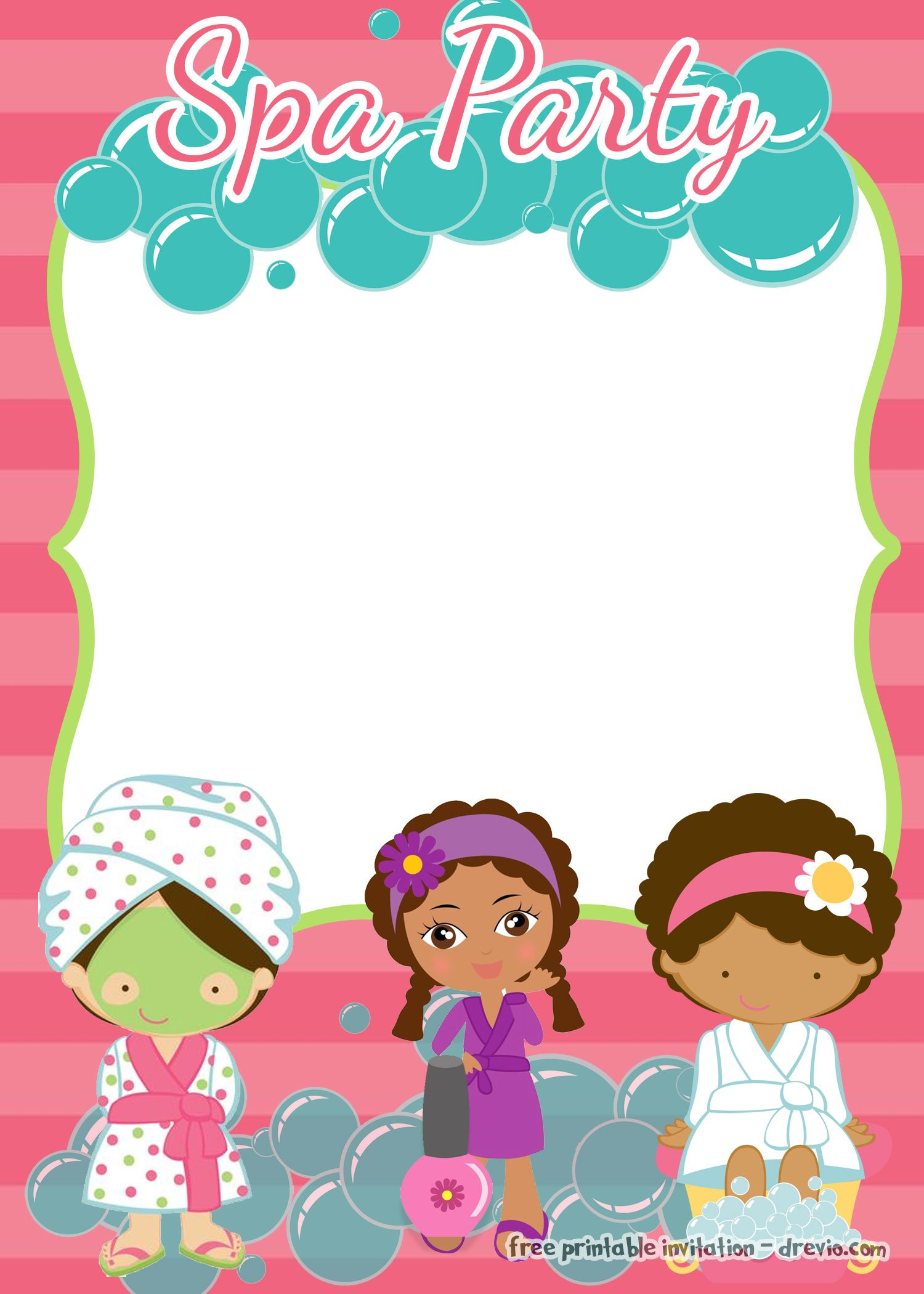 pamper party invite template