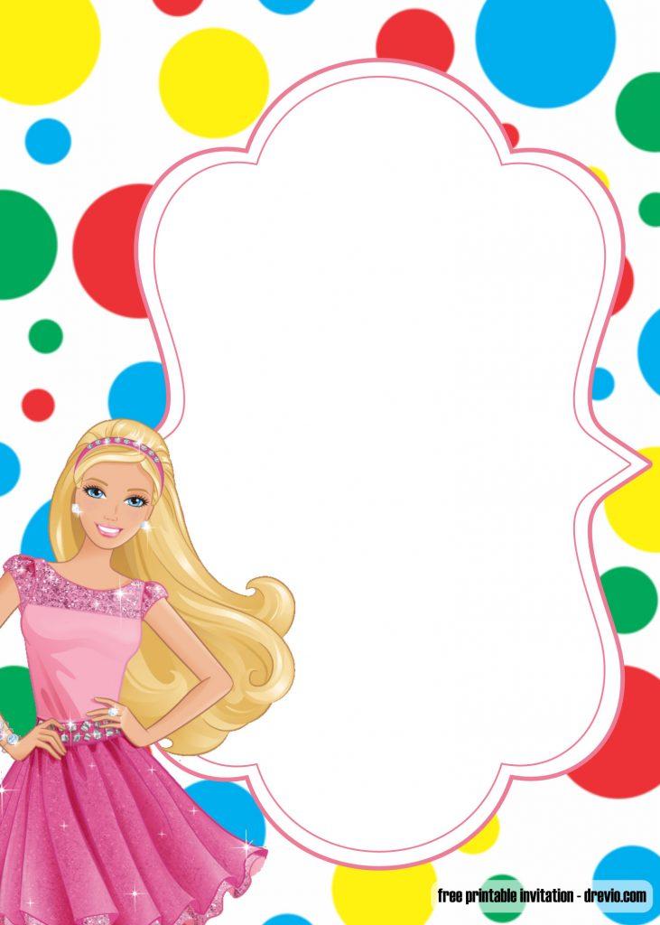 FREE Printable Princess Birthday Invitation Templates \u2013 Barbie and