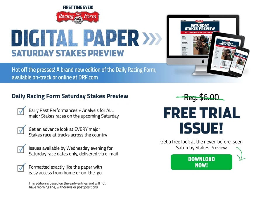 Digital Paper Daily Racing Form - racing form