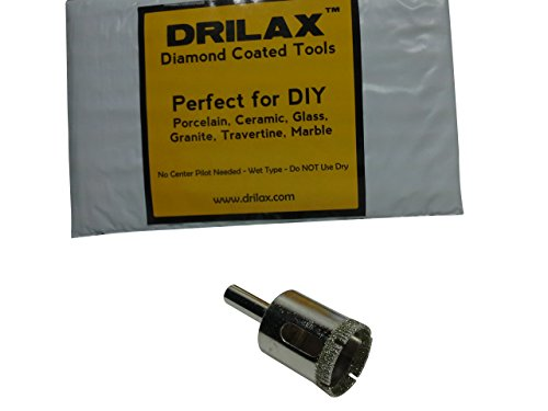 Drilax Diamond Drill Bit Large 1 Inch Size Hole Saw For