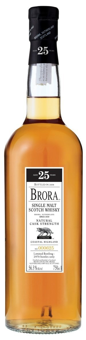 brora 25 year cask strength Review: Brora 25 Year Old (2008) Single Malt Scotch
