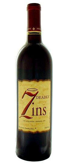 7 deadly zins Review: 2008 7 Deadly Zins Zinfandel Lodi
